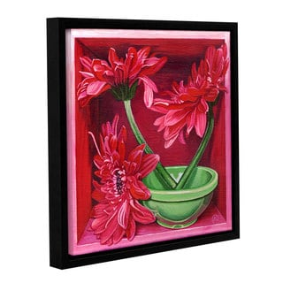 ArtWall Paige Wallis 'In A Magenta Mood' Gallery-wrapped Floater-framed Canvas