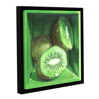 ArtWall Paige Wallis 'Kiwi' Gallery-wrapped Floater-framed Canvas