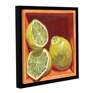 ArtWall Paige Wallis 'Luscious Lemon' Gallery-wrapped Floater-framed Canvas
