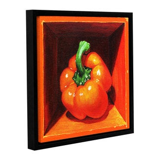 ArtWall Paige Wallis 'Orange Bell' Gallery-wrapped Floater-framed Canvas