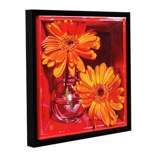 ArtWall Paige Wallis 'Orange Crush' Gallery-wrapped Floater-framed Canvas