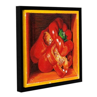 ArtWall Paige Wallis 'Redbell' Gallery-wrapped Floater-framed Canvas