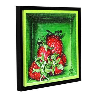 ArtWall Paige Wallis 'Strawberries' Gallery-wrapped Floater-framed Canvas