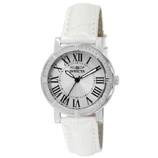 Invicta Wildflower Silver Dial 5 Interchangeable Bands Leather Women's Watch Set