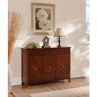 K and B Walnut Wood Console Table