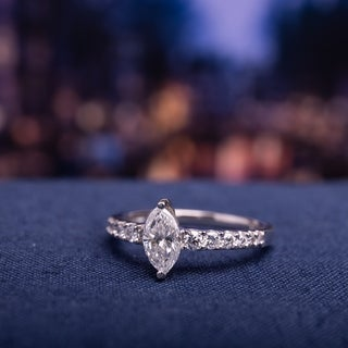 Link to Miadora Signature Collection 14k White Gold 1ct TDW Diamond Engagement Ring Similar Items in Wedding Rings