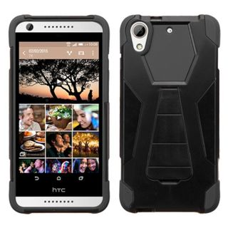 Insten Hard PC/ Silicone Dual Layer Hybrid Phone Case Cover with Stand For HTC Desire 626