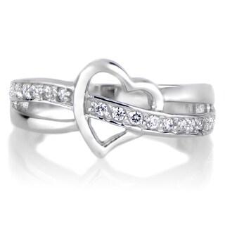 Brass Heart CZ Promise Ring