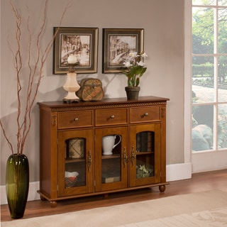 K & B C1243 Walnut Console Table
