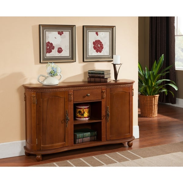 Dining Room Storage Furniture: Sideboard Console Table Buffet Server Wood Walnut Storage