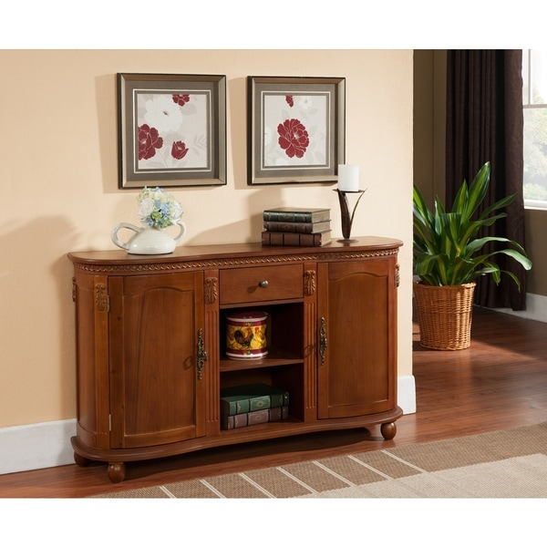 Dining Room Buffet Cabinet: Sideboard Console Table Buffet Server Wood Walnut Storage