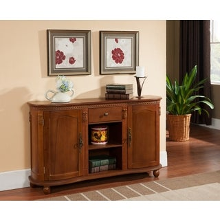 K & B C1244 Walnut Console Table