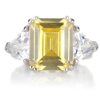 Sterling Silver Asscher Cut Citrine Cocktail Ring|https://ak1.ostkcdn.com/images/products/10488338/P17576199.jpg?impolicy=medium