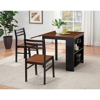 Coaster Company Walnut/ Black 3-piece Dinette Set