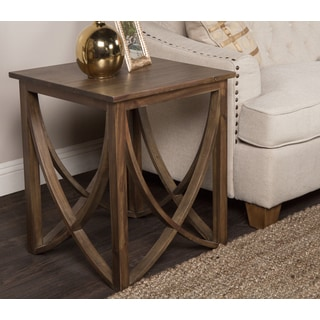 Kosas Home Hand-finished Maura Rustic Mahogany End Table