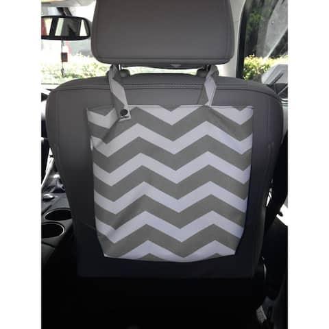 Chevron Design Auto Trash Bag