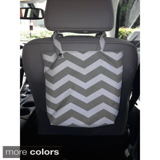 Canvas and Nylon Chevron-designed Auto Trash Bag