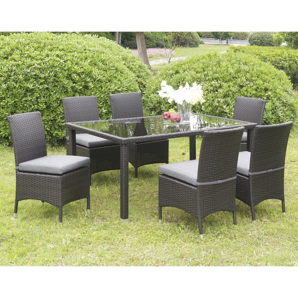 Furniture Of America Mianne Espresso 7 Piece Patio Dining Set Free Shipping Today Overstock