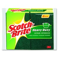Scotch-Brite Green/Yellow Scrub Sponges (Pack of 6)