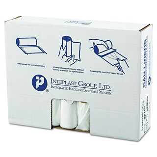 Inteplast Group Clear 33gal 33 x 39 High-Density Can Liners (20 Rolls of 25 Liners)