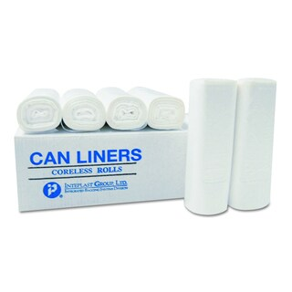 Inteplast Group Clear 7-Gallon 20 x 22 High-Density Can Liners (40 Rolls of 50 Liners)