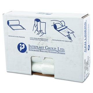 Inteplast Group Clear 30gal 30 x 36 High-Density Can Liners (20 Rolls of 25 Liners)
