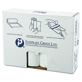 Inteplast Group Clear 60gal 38 x 58 High-Density Can Liner (8 Rolls of 25 Liners)