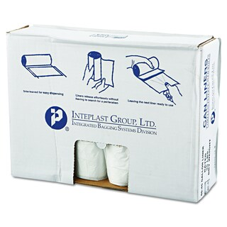 Inteplast Group Clear 45gal 40 x 46 High-Density Can Liners (10 Rolls of 25 Liners)