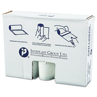 Inteplast Group Clear 45gal 40 x 46 High-Density Can Liners (6 Rolls of 25 Liners)