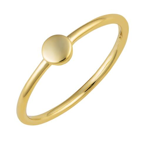 Fremada 14k Yellow Gold Over Sterling Silver Mini Circle Ring (size 5 - 8)