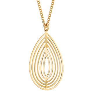 Fremada 18k Yellow Gold Over Sterling Silver Teardrop Wind Chime Necklace (18 inch)