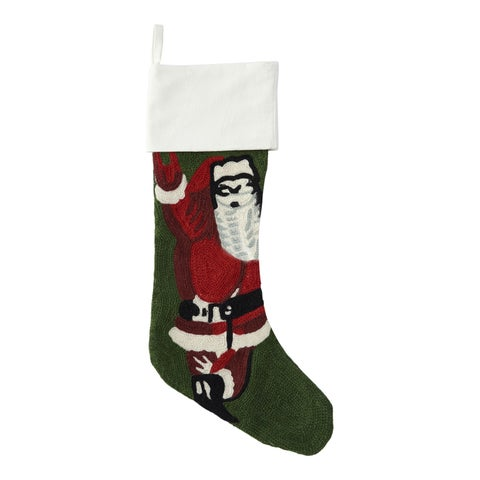 Hand-Embroidered Holiday Stocking (India)