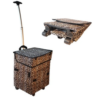 As Seen On TV Smart Cart Gone Wild Leopard Print Collapsable Cart