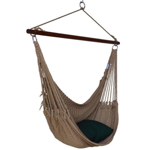 jumbo caribbean hammock chair with footrest 55 inch softspun polyester