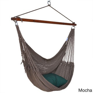 Jumbo Caribbean Hammock Chair with Footrest - 55 inch - Soft-Spun Polyester