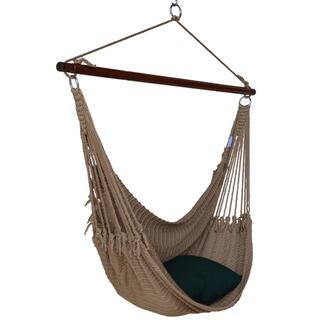 Jumbo Caribbean Hammock Chair with Footrest - 55 inch - Soft-Spun Polyester|https://ak1.ostkcdn.com/images/products/10489036/P17576751.jpg?impolicy=medium
