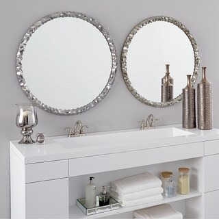Allan Andrews Round Memphis Wall Mirror - Silver