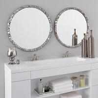 Allan Andrews Round Memphis Mirror - Silver