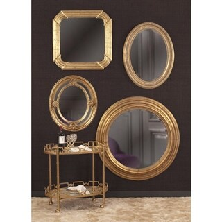 Allan Andrews Nero Goldtone Mirror