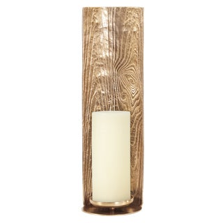 Allan Andrews Textured Goldtone Candle Pillar Holder