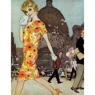 "Marmont Hill - ""The Stranded Blonde"" by Joe de Mers Painting Print on Canvas"