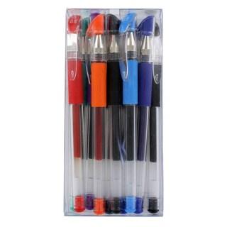 Acme ZL-03 Grip Stick Gel Ink Pens, 0.5mm, Assorted Ink, Pack of 10