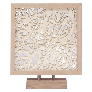 Allan Andrews Blonde Tree Bark Abstract Design with Blonde Maple Veneer Frame and Mirror Accent