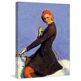 """Marmont Hill - """"Woman on Horseback"""" by Guy Hoff Painting Print on Canvas"""