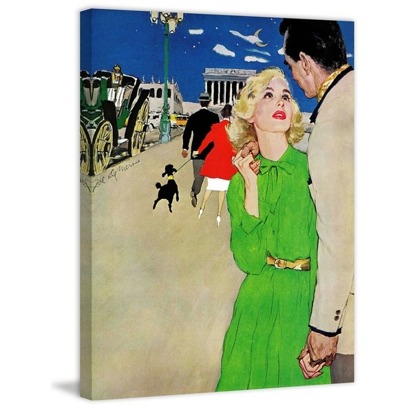 "Marmont Hill - ""Fugitive From Romance"" by Joe de Mers Painting Print on Canvas - Multi-color"