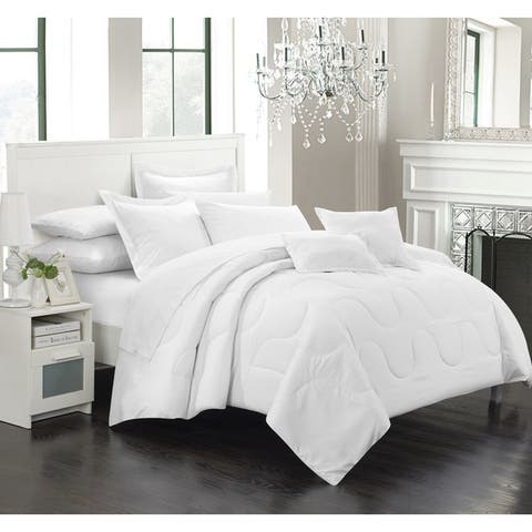Chic Home Direllei White Down Alternative 11-piece Bed in a Bag Set