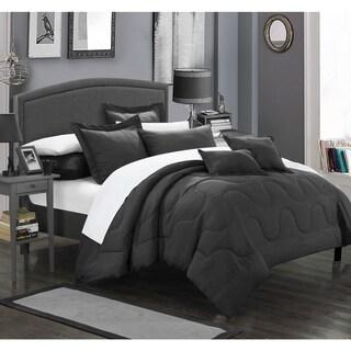 Chic Home Direllei Black Down Alternative 11-piece Bed in a Bag Set