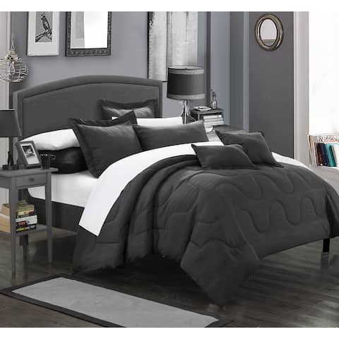 Chic Home Direllei Black Down Alternative 11-piece Bed in a Bag Set