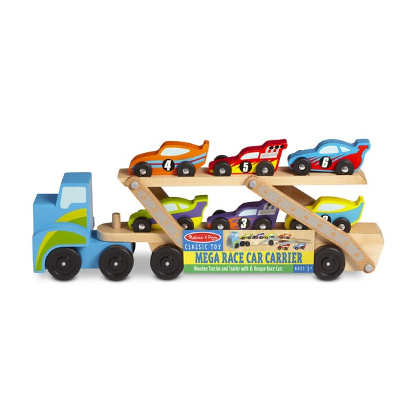 Melissa & Doug Mega Race-Car Carrier