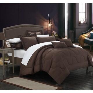 Chic Home Direllei Brown Down Alternative 11-piece Bed in a Bag Set